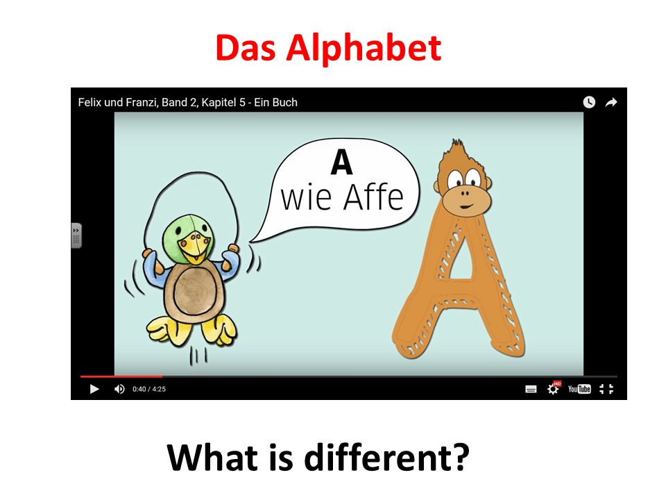 Das Alphabet What is different