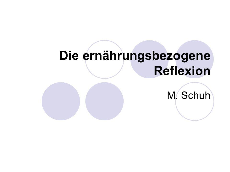Die ernährungsbezogene Reflexion M. Schuh