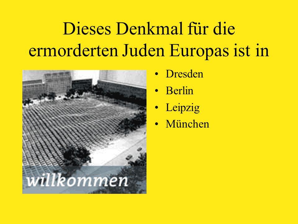 Dieses Denkmal für die ermorderten Juden Europas ist in Dresden Berlin Leipzig München