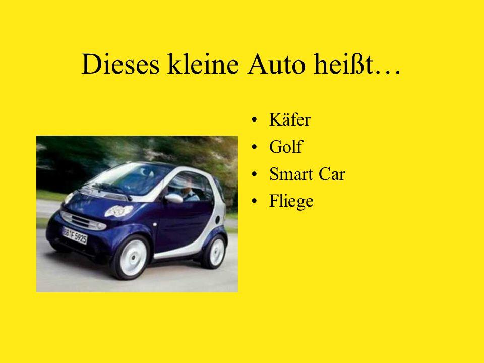 Dieses kleine Auto heißt… Käfer Golf Smart Car Fliege