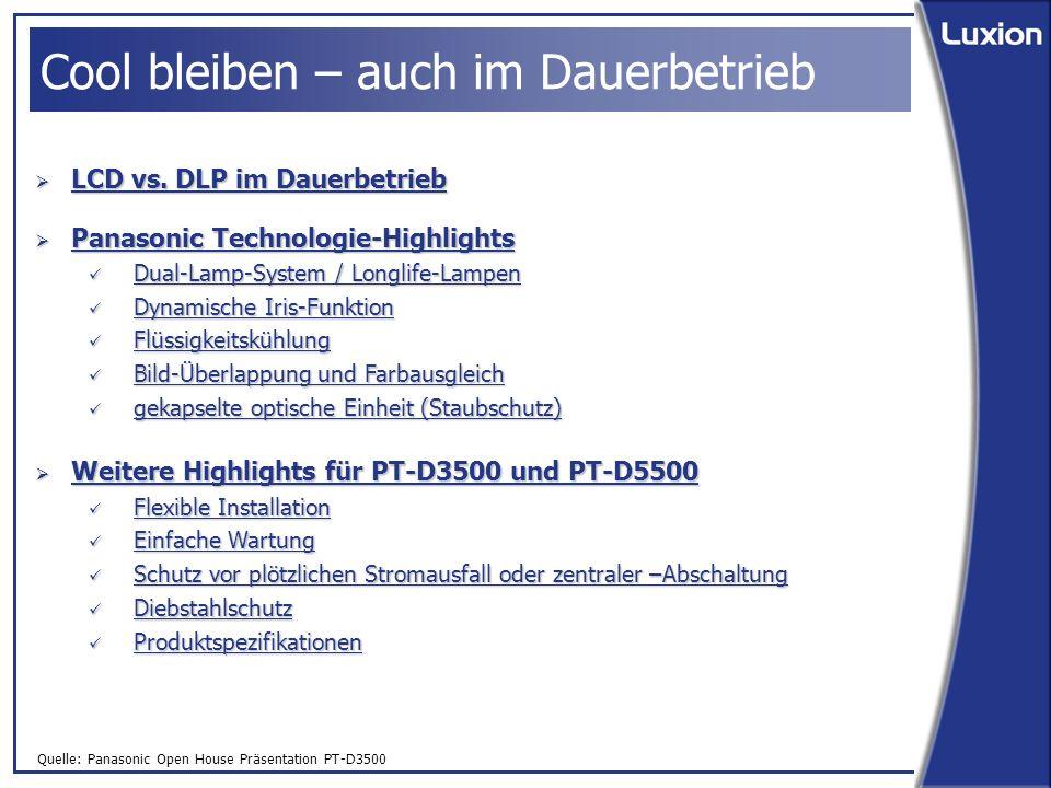 Quelle: Panasonic Open House Präsentation PT-D3500 LCD vs.