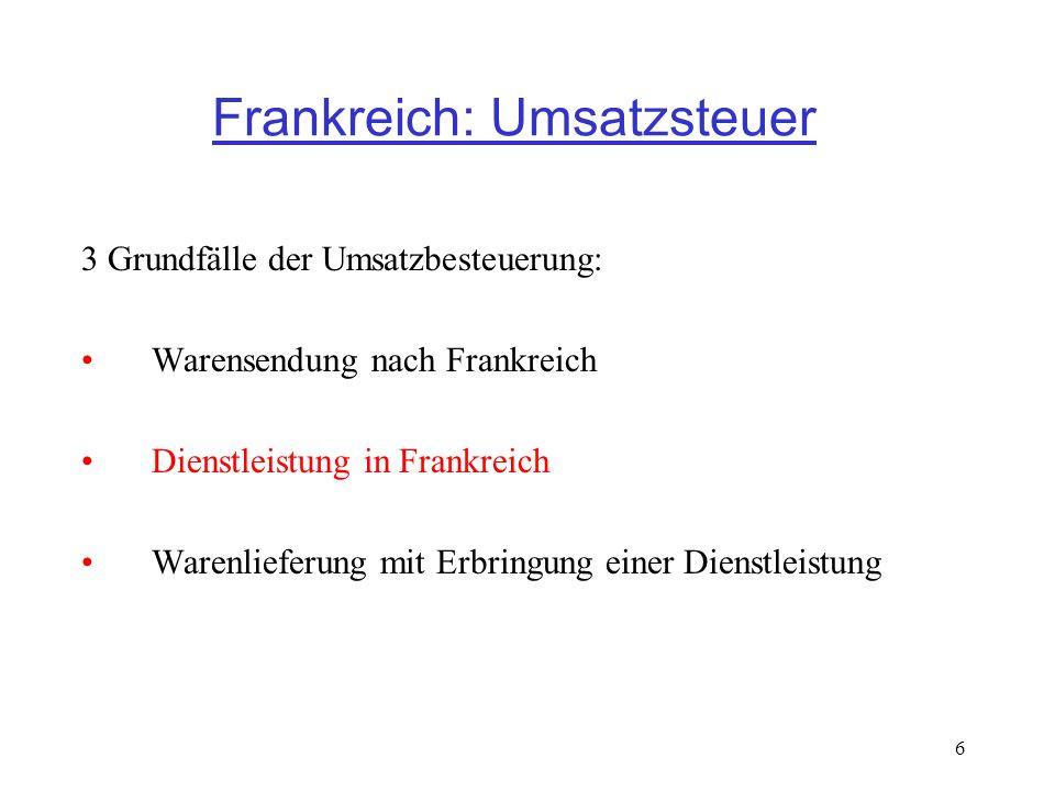 30.09.200917 Umsatzsteuerliche Behandlung von Lieferungen und Dienstleistungen - IHK Saarland KRIEGER Jean-Claude 18, Rue de Dommeldange L-7222 WALFERDANGE 3.