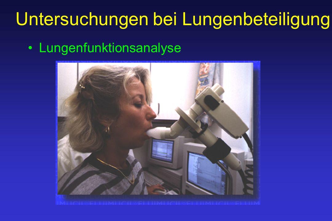 Untersuchungen bei Lungenbeteiligung Lungenfunktionsanalyse