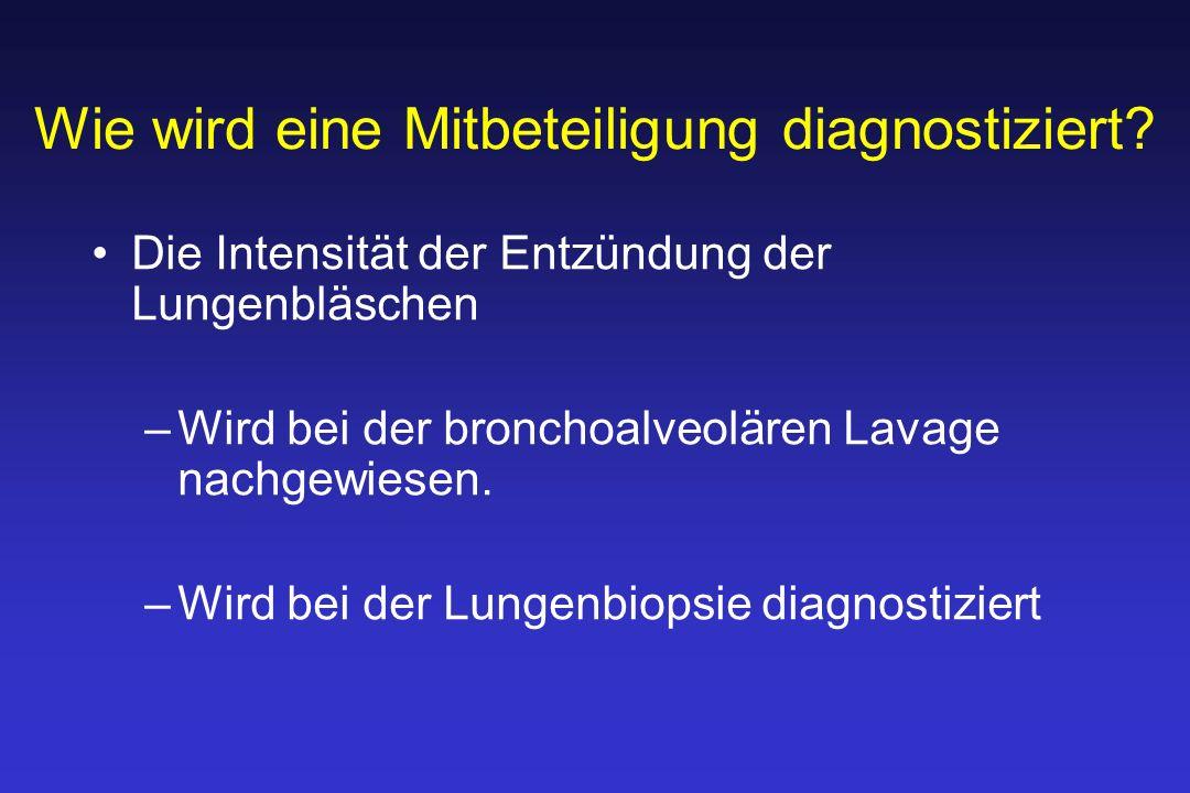 Wie wird eine Mitbeteiligung diagnostiziert.