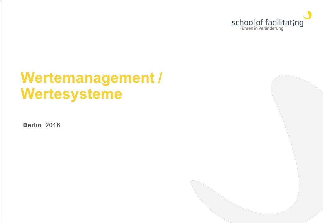 Wertemanagement / Wertesysteme Berlin