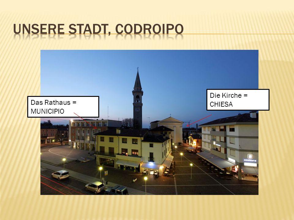 Codroipo liegt im unteren Teil der friaulischen Ebene, zwischen Udine und Pordenone.