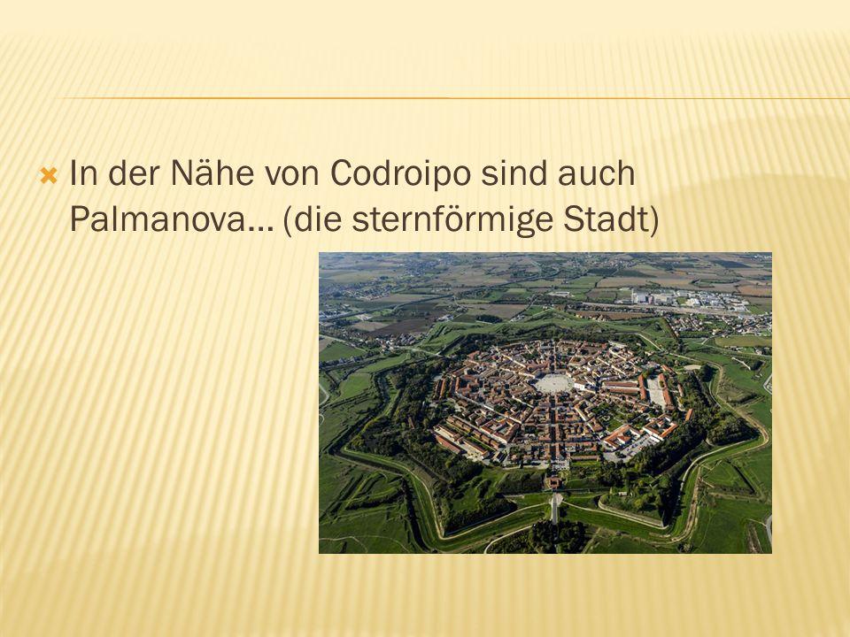  In der Nähe von Codroipo sind auch Palmanova… (die sternförmige Stadt)