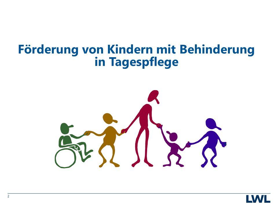 2 Förderung von Kindern mit Behinderung in Tagespflege