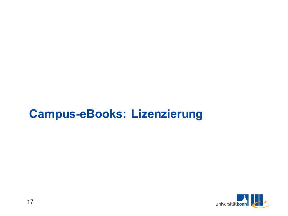 17 Campus-eBooks: Lizenzierung