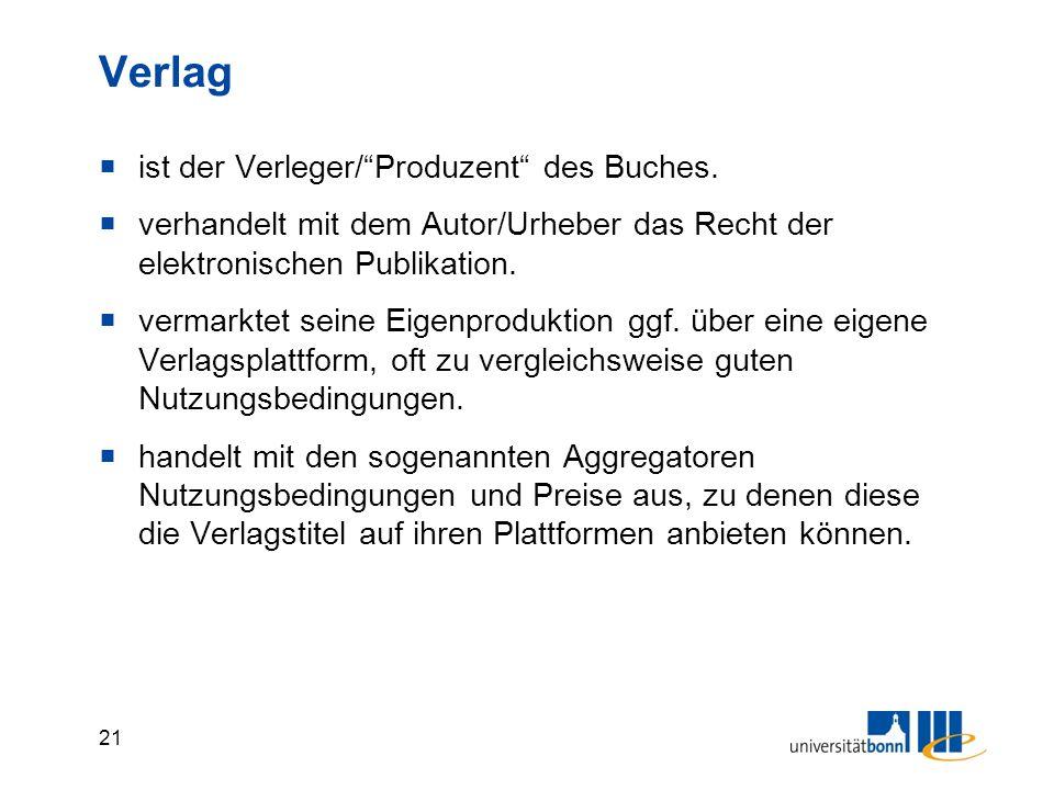 21 Verlag  ist der Verleger/ Produzent des Buches.