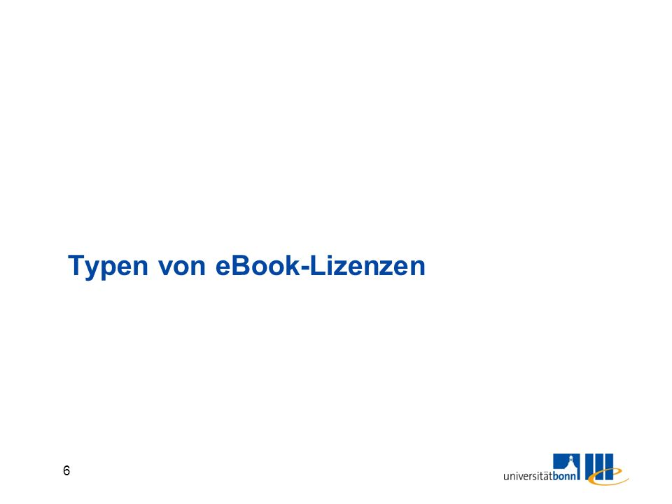 6 Typen von eBook-Lizenzen