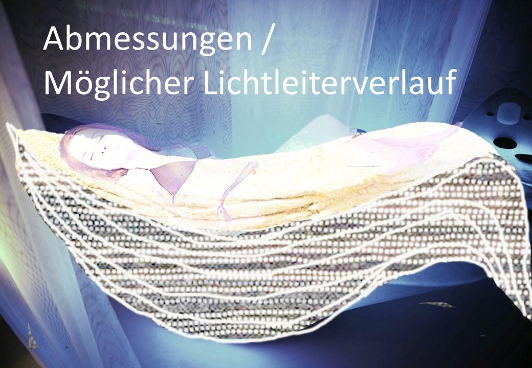 Abmessungen / Möglicher Lichtleiterverlauf