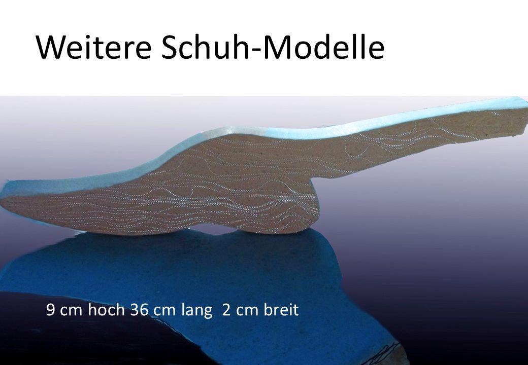Weitere Schuh-Modelle 9 cm hoch 36 cm lang 2 cm breit