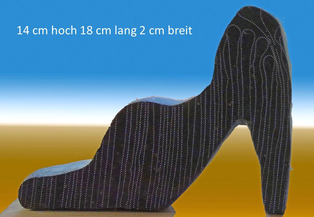 14 cm hoch 18 cm lang 2 cm breit