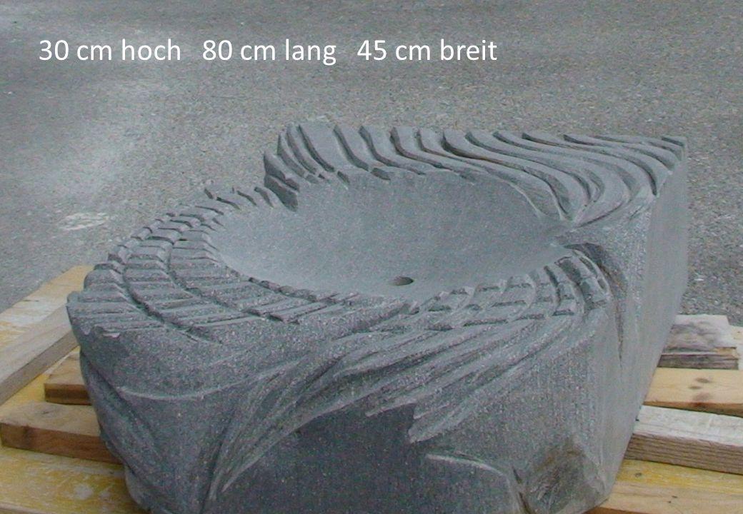 30 cm hoch 80 cm lang 45 cm breit