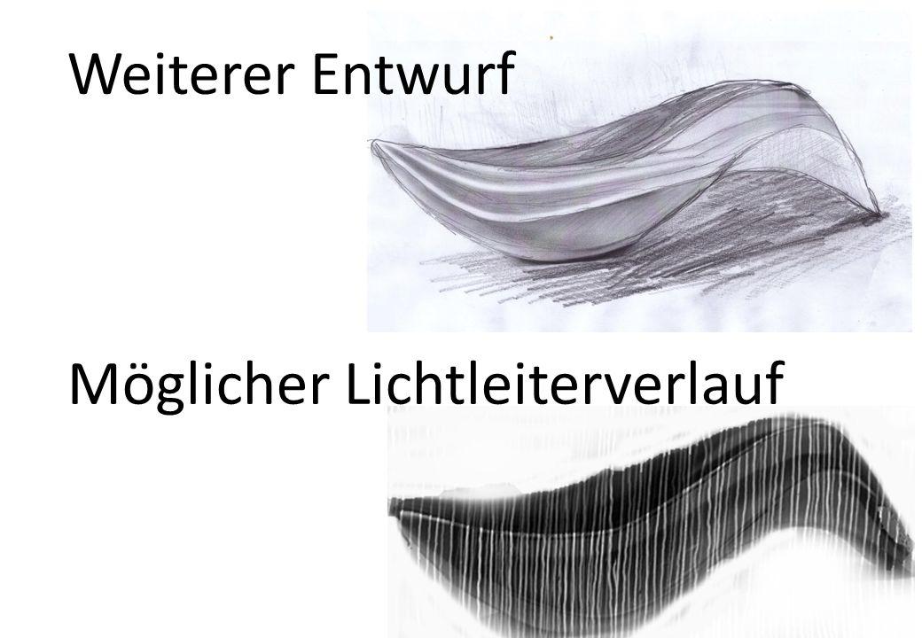 Weiterer Entwurf Möglicher Lichtleiterverlauf