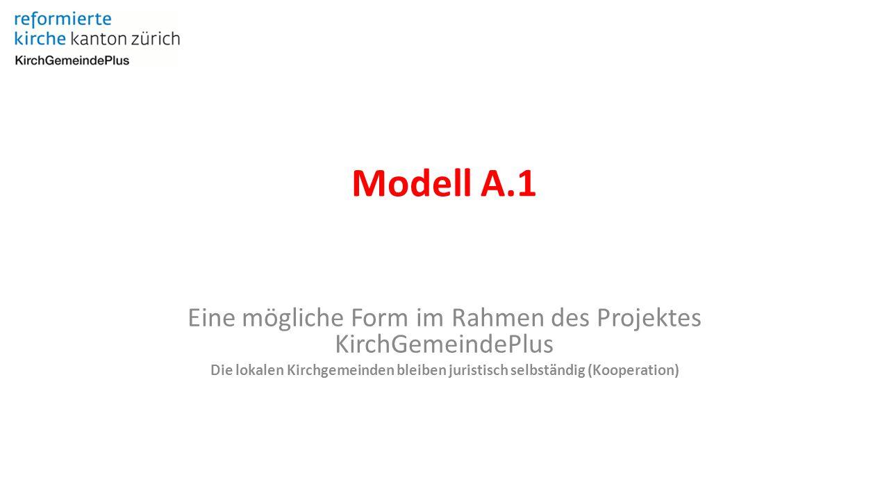 Modell A.1 Eine mögliche Form im Rahmen des Projektes KirchGemeindePlus Die lokalen Kirchgemeinden bleiben juristisch selbständig (Kooperation)
