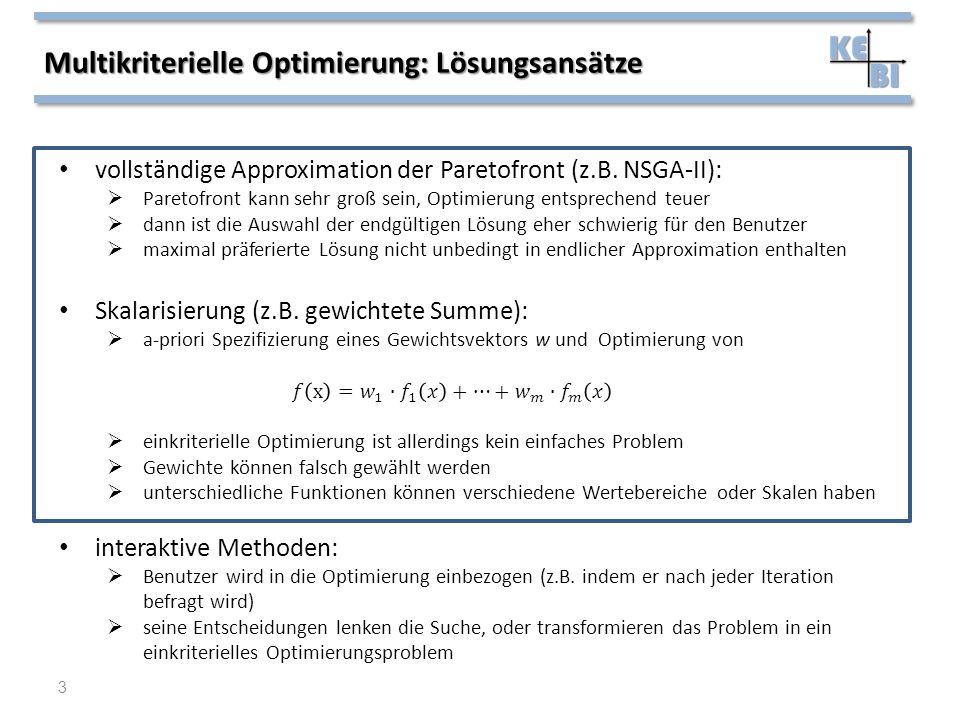 Multikriterielle Optimierung: Lösungsansätze 3