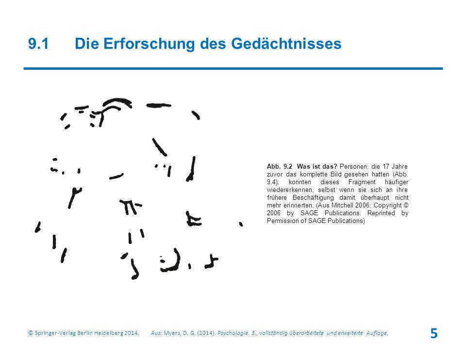 9.1Die Erforschung des Gedächtnisses © Springer-Verlag Berlin Heidelberg 2014.