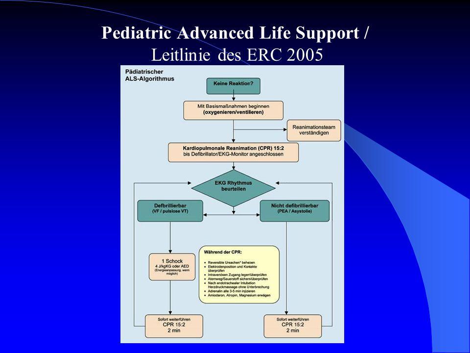 Pediatric Advanced Life Support / Leitlinie des ERC 2005