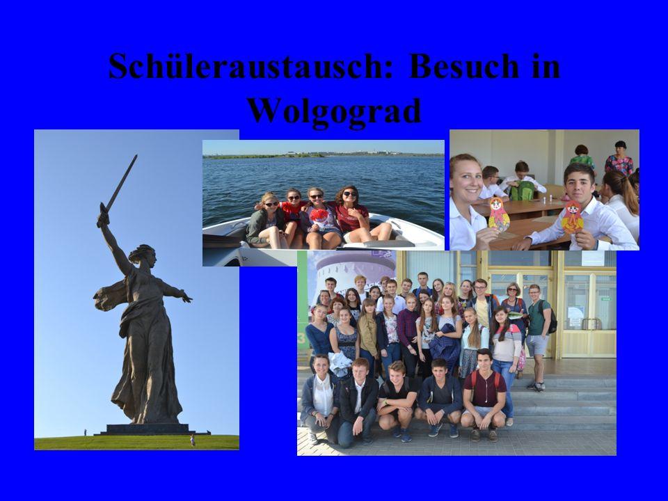 Schüleraustausch: Besuch in Wolgograd