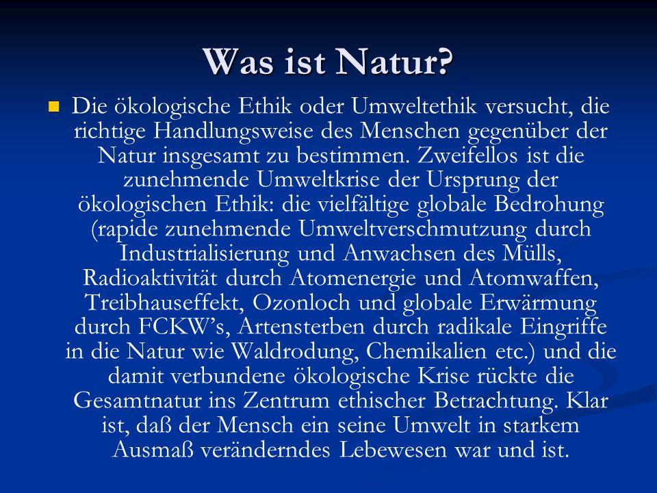 Was ist Natur.