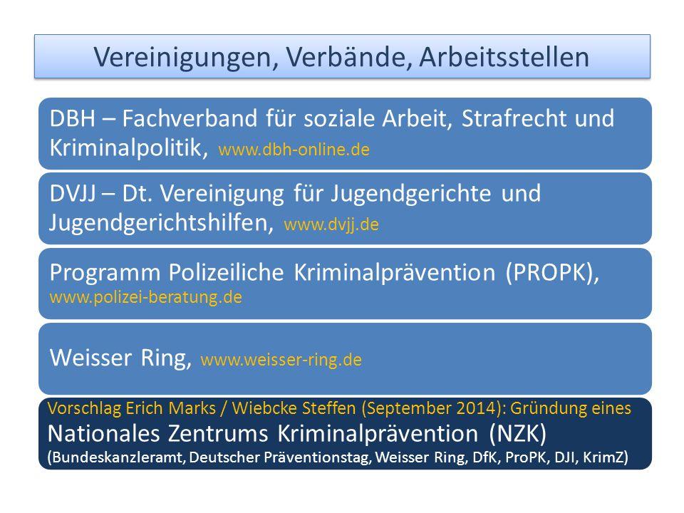 DBH – Fachverband für soziale Arbeit, Strafrecht und Kriminalpolitik, www.dbh-online.de DVJJ – Dt.