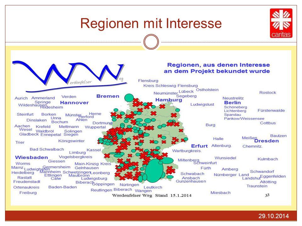 Regionen mit Interesse 29.10.2014