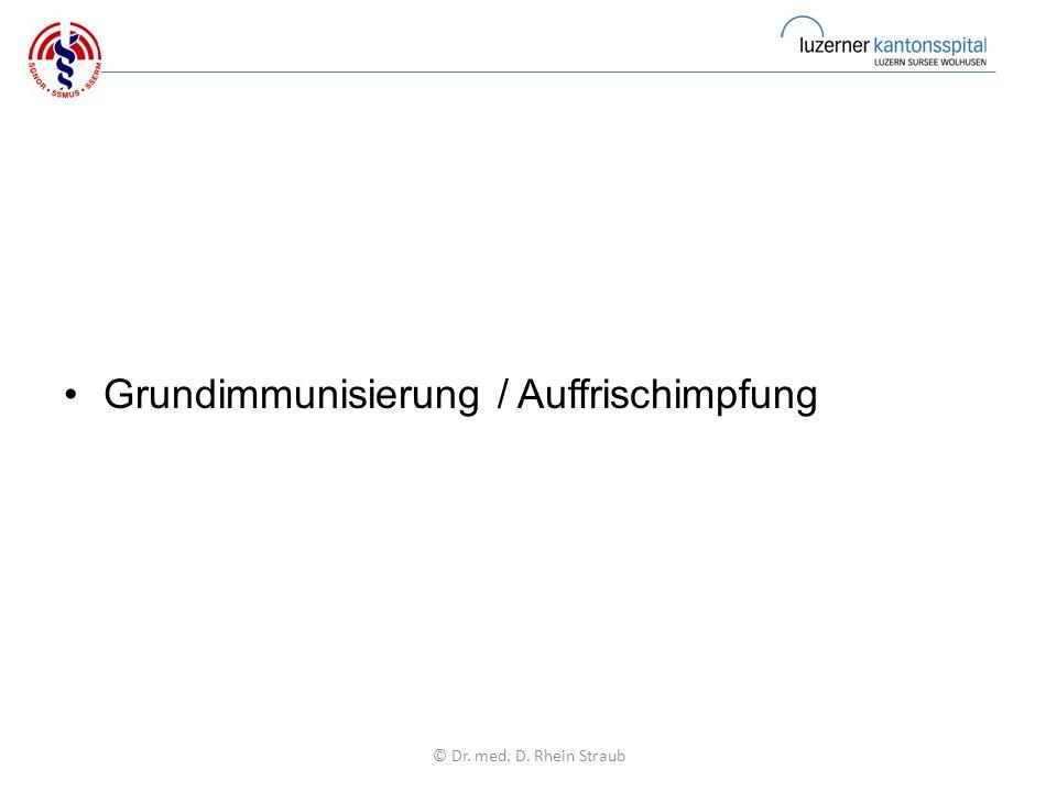 Grundimmunisierung / Auffrischimpfung © Dr. med. D. Rhein Straub