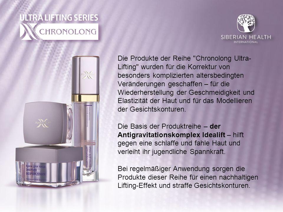 Ultra-Lifting Modellierendes Gesichtsserum Das innovative Serum unterstützt die Wiederherstellung der Spannkraft der Haut, macht sie fester und straffer.