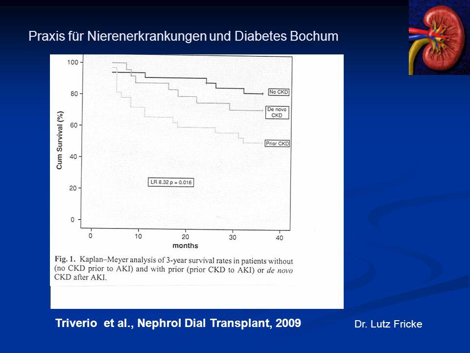 Praxis für Nierenerkrankungen und Diabetes Bochum Dr. Lutz Fricke Triverio et al., Nephrol Dial Transplant, 2009