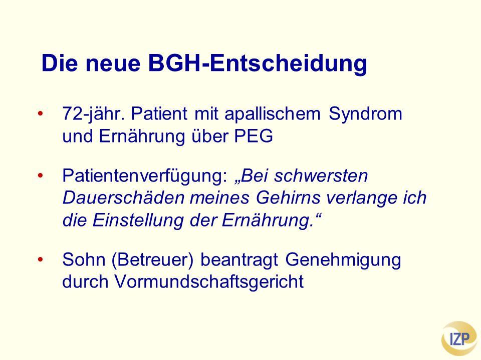 Die neue BGH-Entscheidung 72-jähr.