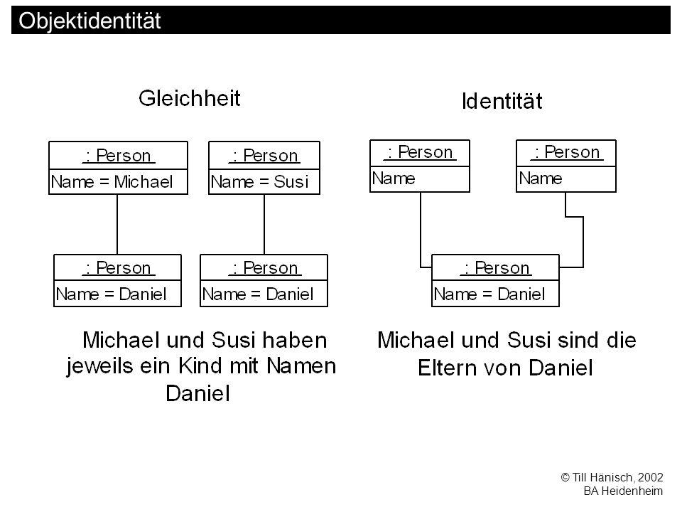 © Till Hänisch, 2002 BA Heidenheim Objektidentität