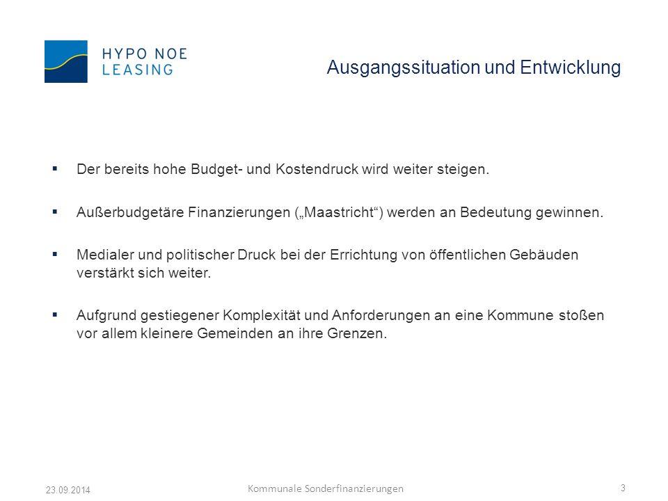 Vielen Dank für Ihre Aufmerksamkeit 23.09.2014 Kommunale Sonderfinanzierungen 14