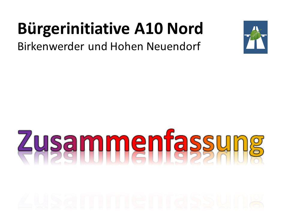 Bürgerinitiative A10 Nord Birkenwerder und Hohen Neuendorf