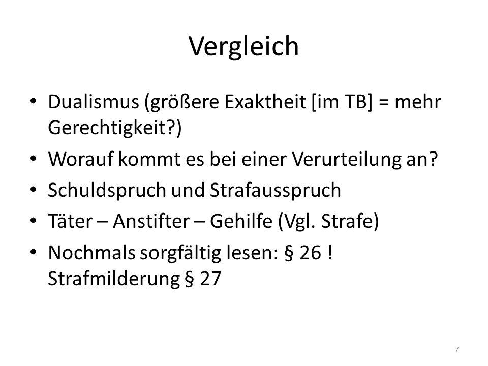 § 25 I 1.Alt.: Alleintäter, typ. Täter (auch Nebentäter, d.
