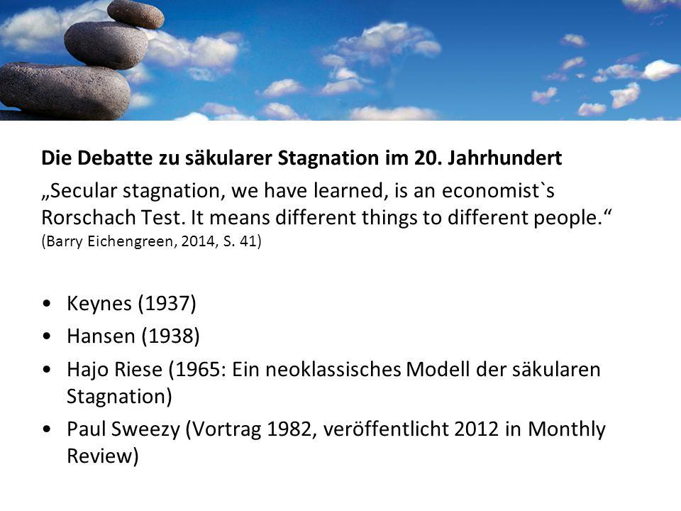 Die Debatte zu säkularer Stagnation im 20.