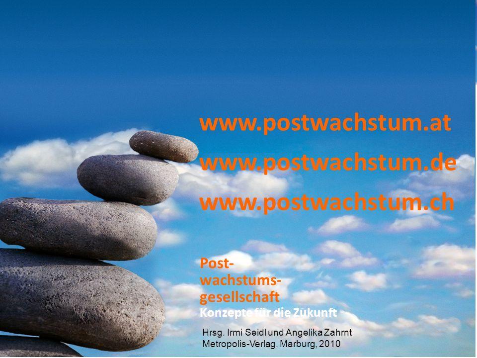 19 Post- wachstums- gesellschaft www.postwachstum.at www.postwachstum.de www.postwachstum.ch Hrsg.