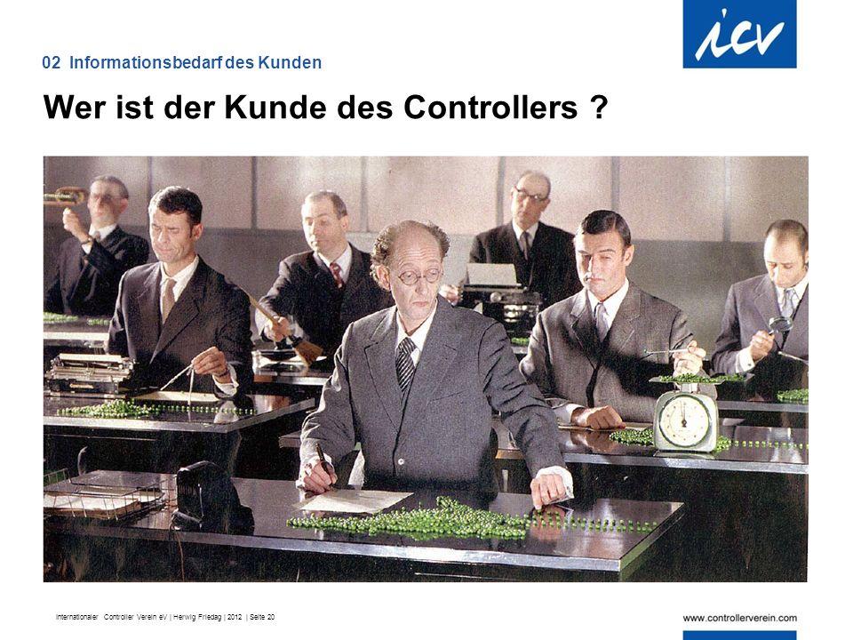 Internationaler Controller Verein eV | Herwig Friedag | 2012 | Seite 20 Wer ist der Kunde des Controllers .