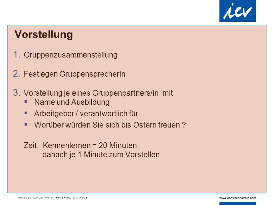 Internationaler Controller Verein eV | Herwig Friedag | 2012 | Seite 6 1.