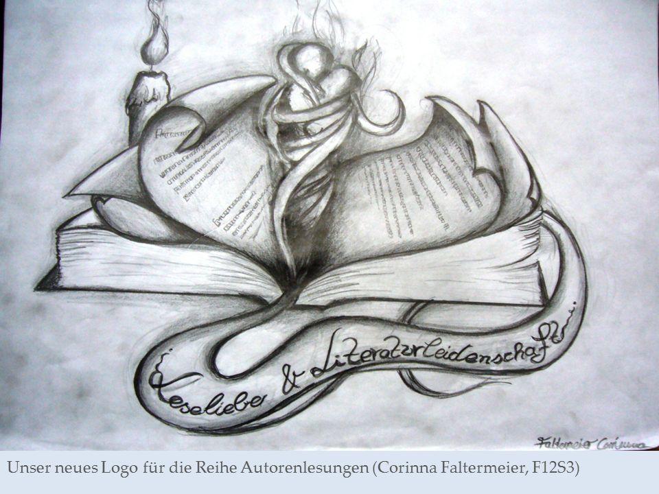 Unser neues Logo für die Reihe Autorenlesungen (Corinna Faltermeier, F12S3)