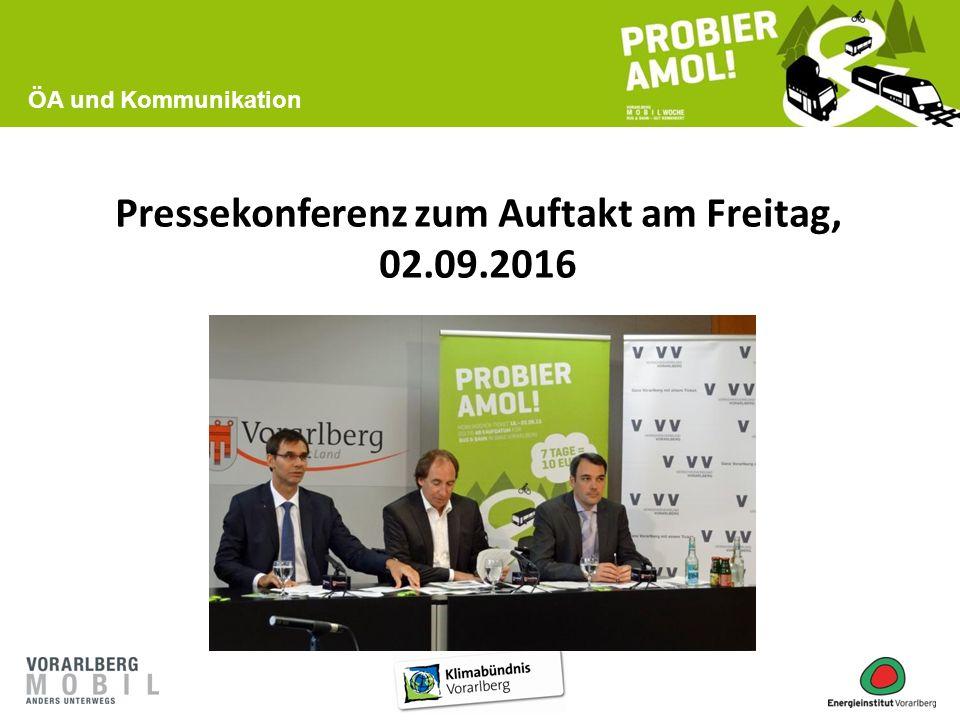 Pressekonferenz zum Auftakt am Freitag, 02.09.2016 ÖA und Kommunikation