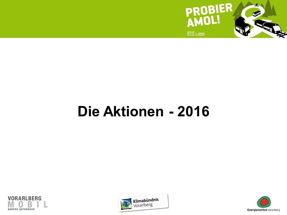 Die Aktionen - 2016