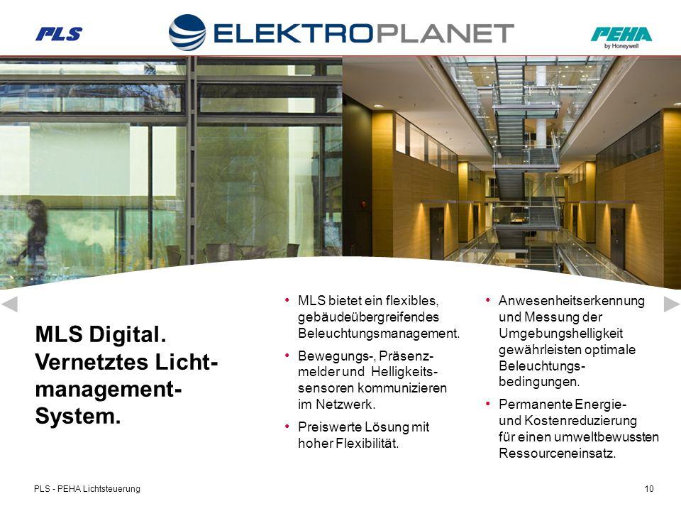 PLS - PEHA Lichtsteuerung10 MLS Digital. Vernetztes Licht- management- System.