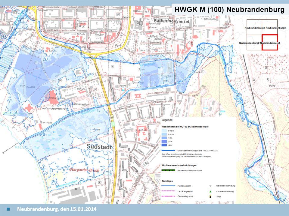 Staatliches Amt für Landwirtschaft und Umwelt Mecklenburgische Seenplatte 23 n Neubrandenburg, den 15.01.2014 HWGK M (100) Neubrandenburg