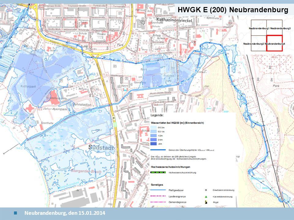 Staatliches Amt für Landwirtschaft und Umwelt Mecklenburgische Seenplatte 24 n Neubrandenburg, den 15.01.2014 HWGK E (200) Neubrandenburg