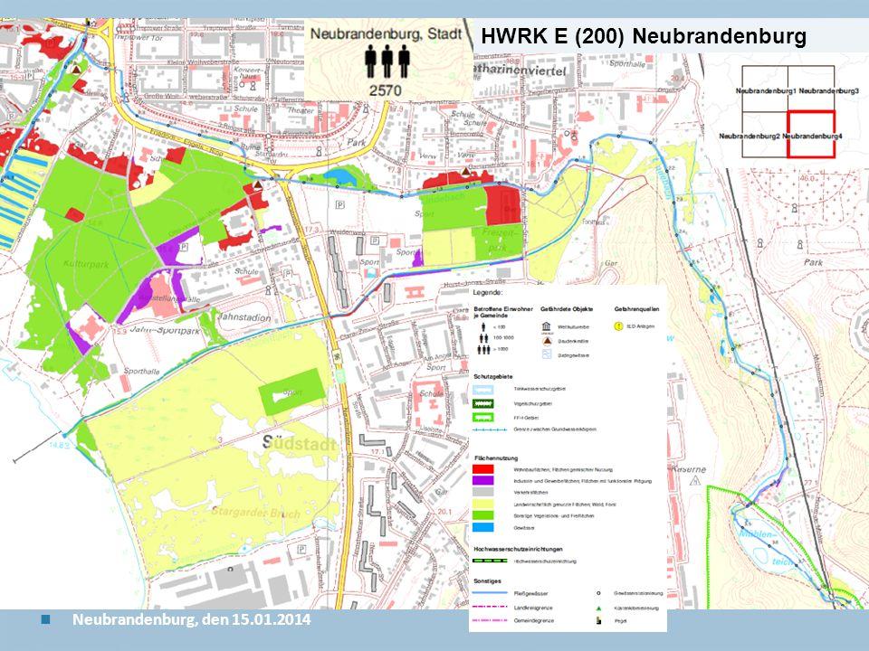 Staatliches Amt für Landwirtschaft und Umwelt Mecklenburgische Seenplatte 25 n Neubrandenburg, den 15.01.2014 HWRK E (200) Neubrandenburg