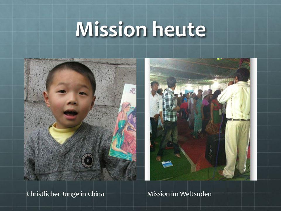 Mission heute Christlicher Junge in ChinaMission im Weltsüden