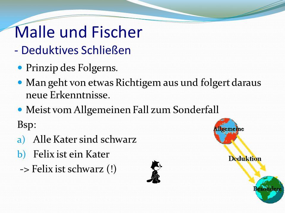 Malle und Fischer - Deduktives Schließen Prinzip des Folgerns.