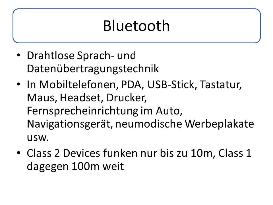 Bluetooth Drahtlose Sprach- und Datenübertragungstechnik In Mobiltelefonen, PDA, USB-Stick, Tastatur, Maus, Headset, Drucker, Fernsprecheinrichtung im
